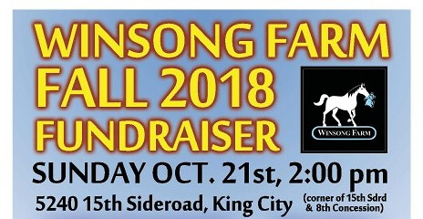 Winsong Farm Fall 2018 Fundraiser